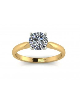 18ct Yellow Gold Single Stone Claw Set Diamond Ring D VS 0.30 Carats