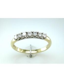 18ct Claw Set Semi Eternity Diamond Ring 0.33 Carats
