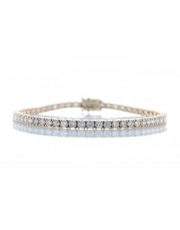 18ct Rose Gold Tennis Diamond Bracelet 4.33 Carats