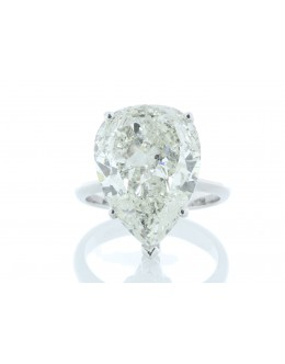 18ct White Gold Pear Shaped Diamond Ring 10.06 Carats