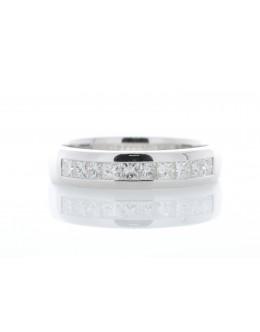 18ct White Gold Diamond Channel Set Half Eternity Ring 0.50 Carats