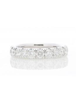 18ct White Gold Full Eternity Diamond Ring 1.94 Carats