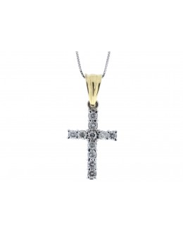 18ct White Gold Diamond Cross 0.50 Carats