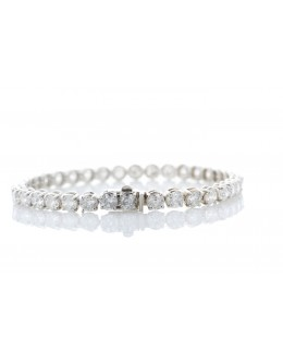18ct White Gold Tennis Diamond Bracelet 5.60 Carats