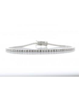 18ct White Gold Tennis Diamond Bracelet 1.11 Carats