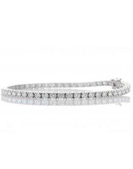 18ct White Gold Tennis Diamond Bracelet 2.50 Carats