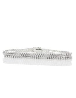 18ct White Gold Tennis Diamond Bracelet 7.22 Carats