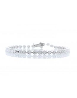 18ct White Gold Tennis Diamond Bracelet 1.48 Carats