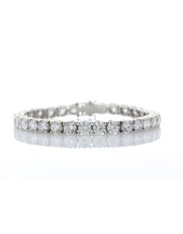 18ct White Gold Tennis Diamond Bracelet 17.00 Carats