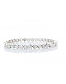 18ct White Gold Tennis Diamond Bracelet 13.00 Carats