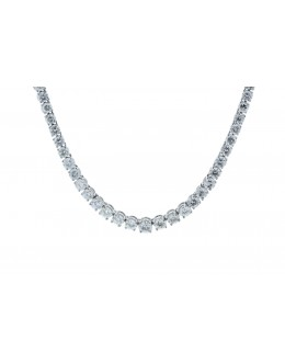 18ct White Gold Tennis Diamond Collarate 10.74 Carats