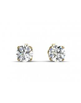 9ct Single Stone Four Claw Set Diamond Earring 0.10 Carats