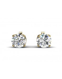 9ct Single Stone Claw Set Diamond Earring 0.50 Carats