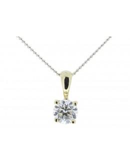 9ct Four Claw Set Diamond Pendant 0.20 Carats