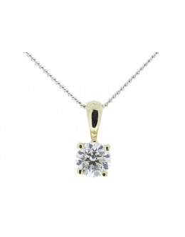 9ct Four Claw Set Diamond Pendant 0.25 Carats