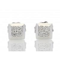 9ct White Gold Diamond Earring 0.07 Carats