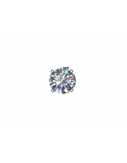 9ct White Gold Gents Diamond Earring 0.20 Carats