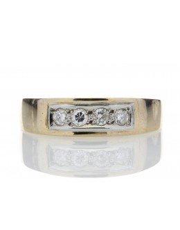 18ct Channel Set Semi Eternity Diamond Ring 0.16 Carats
