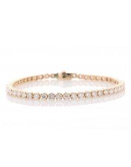 18ct Rose Gold Tennis Diamond Bracelet 5.43 Carats