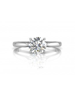 18ct White Gold Single Stone Claw Set Diamond Ring F SI 0.70 Carats