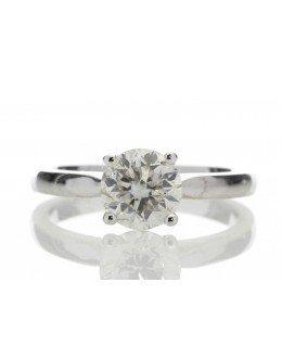 18ct White Gold Single Stone Claw Set Diamond Ring 1.24 Carats