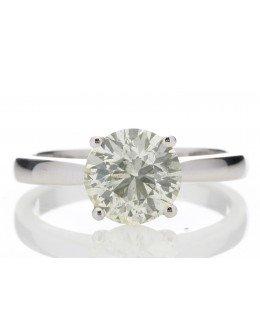 18ct White Gold Single Stone Claw Set Diamond Ring 2.01 Carats