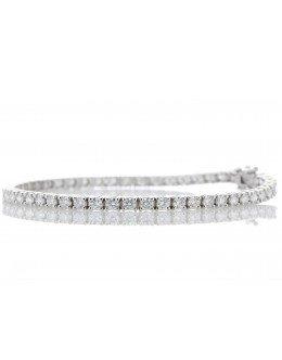 18ct White Gold Tennis Diamond Bracelet 7.10 Carats