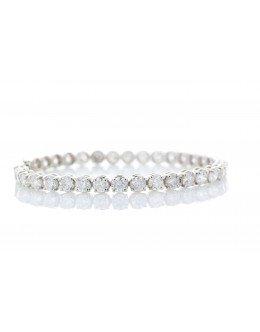 18ct White Gold Tennis Diamond Bracelet 10.00 Carats