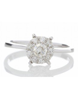 14ct Gold Flower Cluster Diamond Ring 0.50 Carats