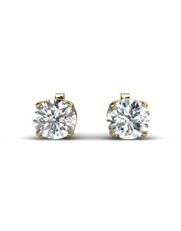 9ct Single Stone Claw Set Diamond Earring 0.50 Carats