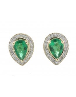 9ct Yellow Gold Other And Emerald Earring 0.20 Carats