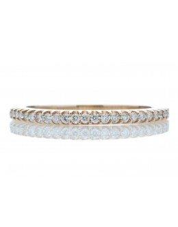 9ct Rose Gold Diamond Half Eternity Ring G SI 0.25 Carats