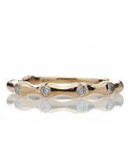 9ct Rose Gold Diamond Ring G SI 0.12 Carats