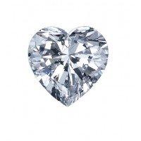 Heart Shape Diamond 0.90 Carats D SI2 GIA
