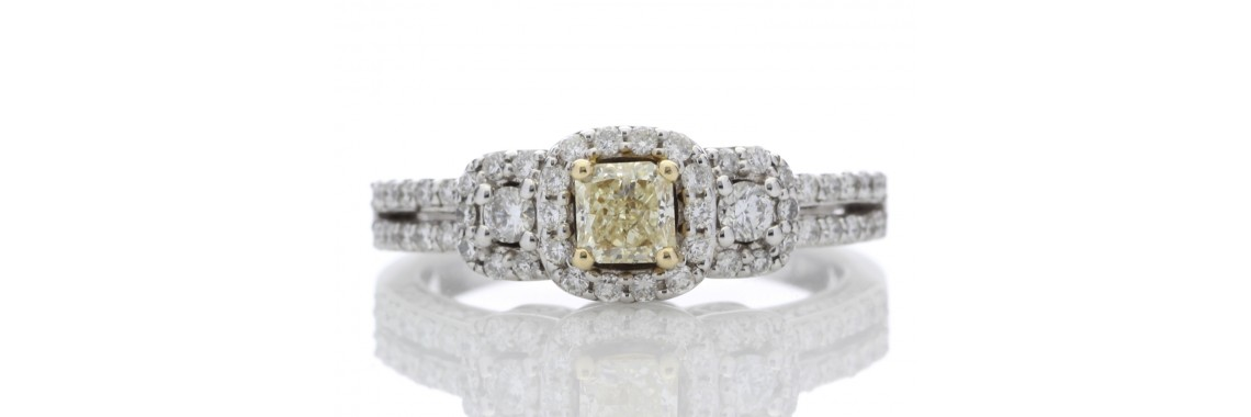 14ct Gold Fancy Yellow Diamond Ring